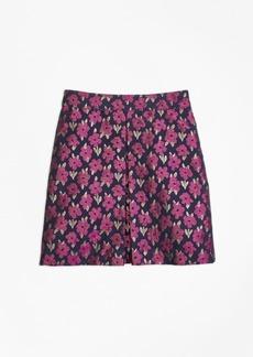 Brooks Brothers Girls Floral Jacquard Skirt