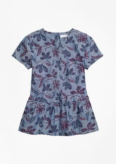 Brooks Brothers Girls Floral Printed Tunic