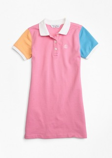 Brooks Brothers Girls Fun Cotton Pique Polo Dress
