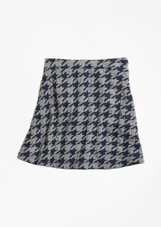 Brooks Brothers Girls Jacquard Houndstooth Skirt