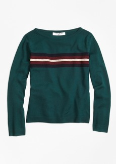 Brooks Brothers Girls Merino Wool Boatneck Sweater