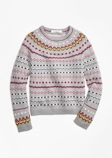 Brooks Brothers Girls Merino Wool Fair Isle Sweater