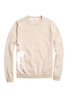 Brooks Brothers Girls Merino Wool Horse Intarsia Sweater