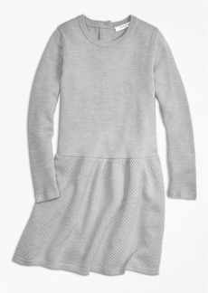 Brooks Brothers Girls Merino Wool Long Sleeve Dress
