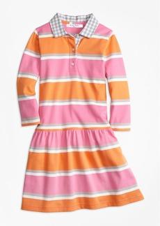 Brooks Brothers Girls Mixed Media Dress