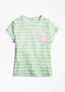 Brooks Brothers Girls Mixed Media T-Shirt