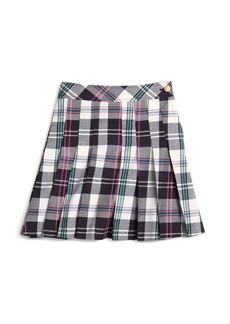 Brooks Brothers Girls Pleated Tartan Skirt