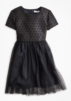 Brooks Brothers Girls Polka Dot Tulle Dress