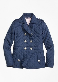 Brooks Brothers Girls Quilted Peplum Jacket