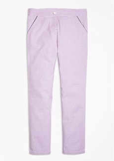 Brooks Brothers Girls Seersucker Cropped Pants
