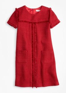 Brooks Brothers Girls Short-Sleeve Boucle Dress