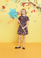 Brooks Brothers Girls Short-Sleeve Cotton Sateen Floral Dress