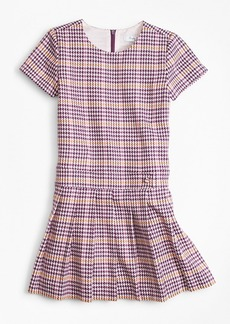 Brooks Brothers Girls Short-Sleeve Houndstooth Dress