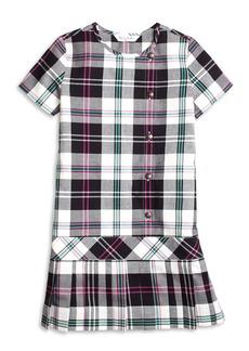 Brooks Brothers Girls Short-Sleeve Plaid Dress