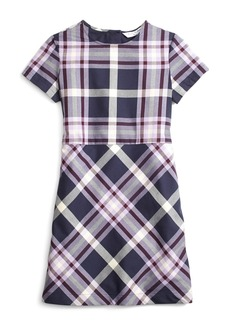 Brooks Brothers Girls Short-Sleeve Tartan Dress