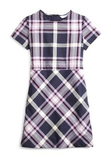 Brooks Brothers Girls Short-Sleeve Tartan Dress