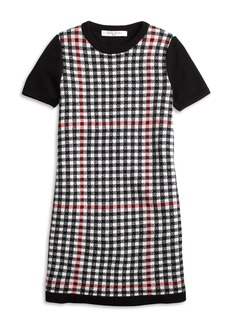Brooks Brothers Girls Short-Sleeve Windowpane Sweater Dress