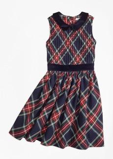 Brooks Brothers Girls Sleeveless Holiday Plaid Dress