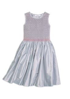 Brooks Brothers Girls Sleeveless Smocked Dress
