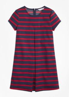 Brooks Brothers Girls Stripe Ponte Dress