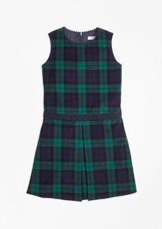 Brooks Brothers Girls Velvet Black Watch Dress