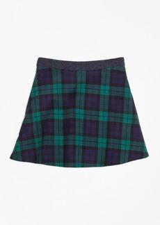 Brooks Brothers Girls Velvet Black Watch Skirt