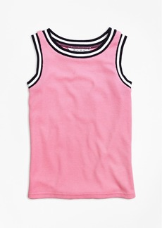 Brooks Brothers Girls Waffle Stitch Tank