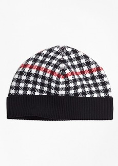 Brooks Brothers Girls Wool Blend Windowpane Hat