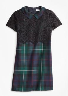 Brooks Brothers Girls Wool Twill Black Watch Plaid Dress