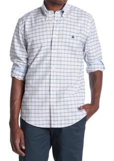 Brooks Brothers Grid Print Sport Fit Shirt