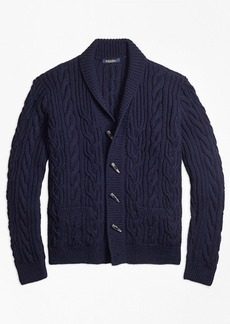 Brooks Brothers Handknit Twisted Cable Cardigan