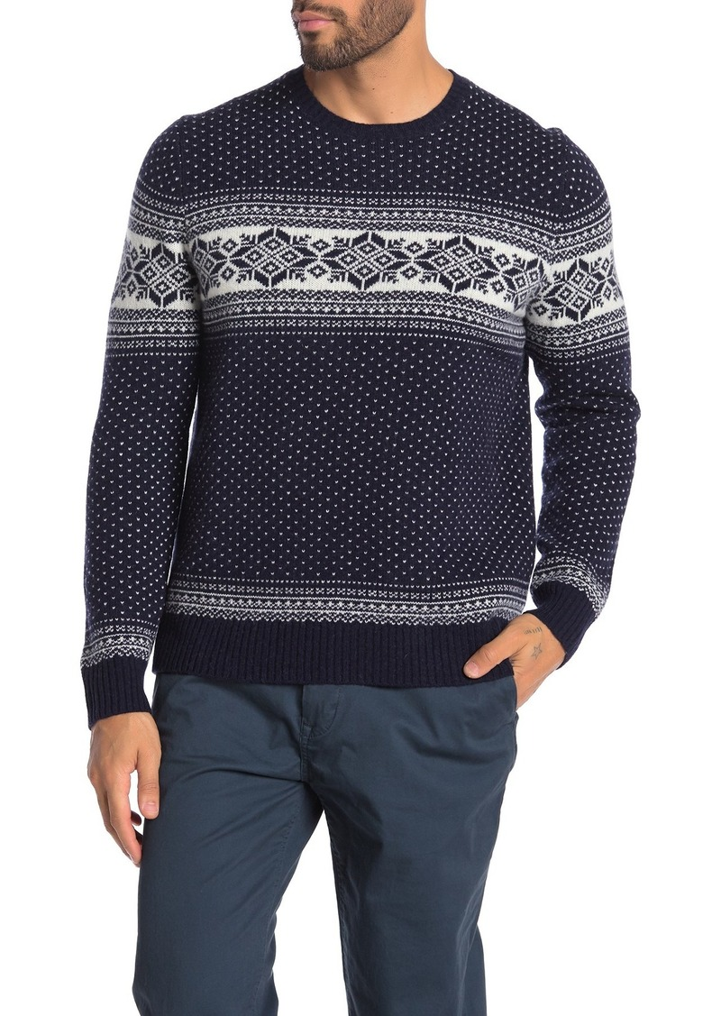 Brooks Brothers Holiday Fairisle Wool Blend Sweater
