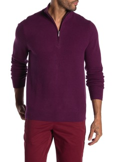 Brooks Brothers Honeycomb Knit Half Zip Sweater