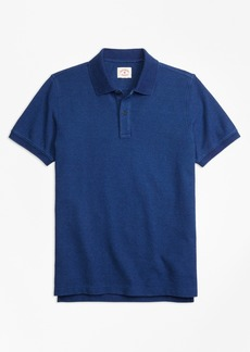 Brooks Brothers Indigo Cotton Pique Polo Shirt