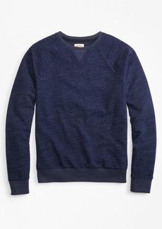 Brooks Brothers Indigo French Terry Crew Sweatshirt
