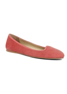Brooks Brothers Kid Suede Patent Ballet Flat