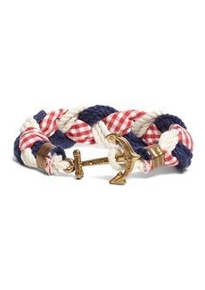 Brooks Brothers Kiel James Patrick Gingham Braided Bracelet