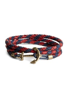 Brooks Brothers Kiel James Patrick Leather Wrap Bracelet