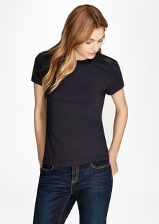 Brooks Brothers Lace-Trimmed T-Shirt
