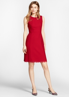 Brooks Brothers Lace-Trimmed Wool-Blend Sheath Dress