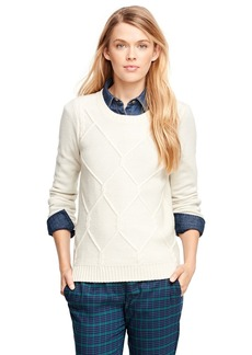 Brooks Brothers Lambswool Fisherman Sweater