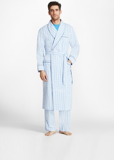 Brooks Brothers Large Plaid Robe