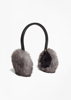 Brooks Brothers Leather Banded Mink Earmuffs