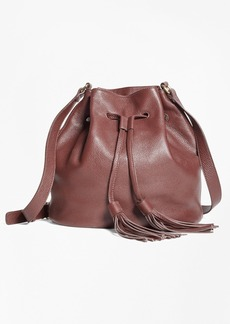 Brooks Brothers Leather Bucket Bag