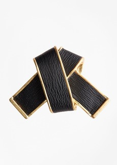 Brooks Brothers Leather Knot Brooch
