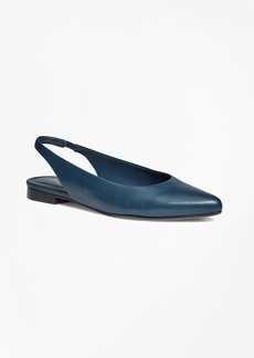 Brooks Brothers Leather Sling-Back Flats