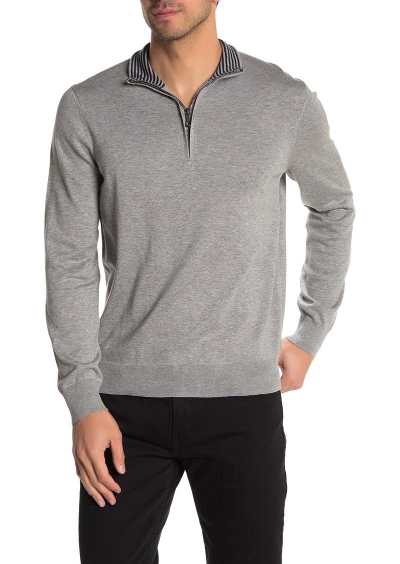 Brooks Brothers Lightweight Jersey Half Zip Sweater
