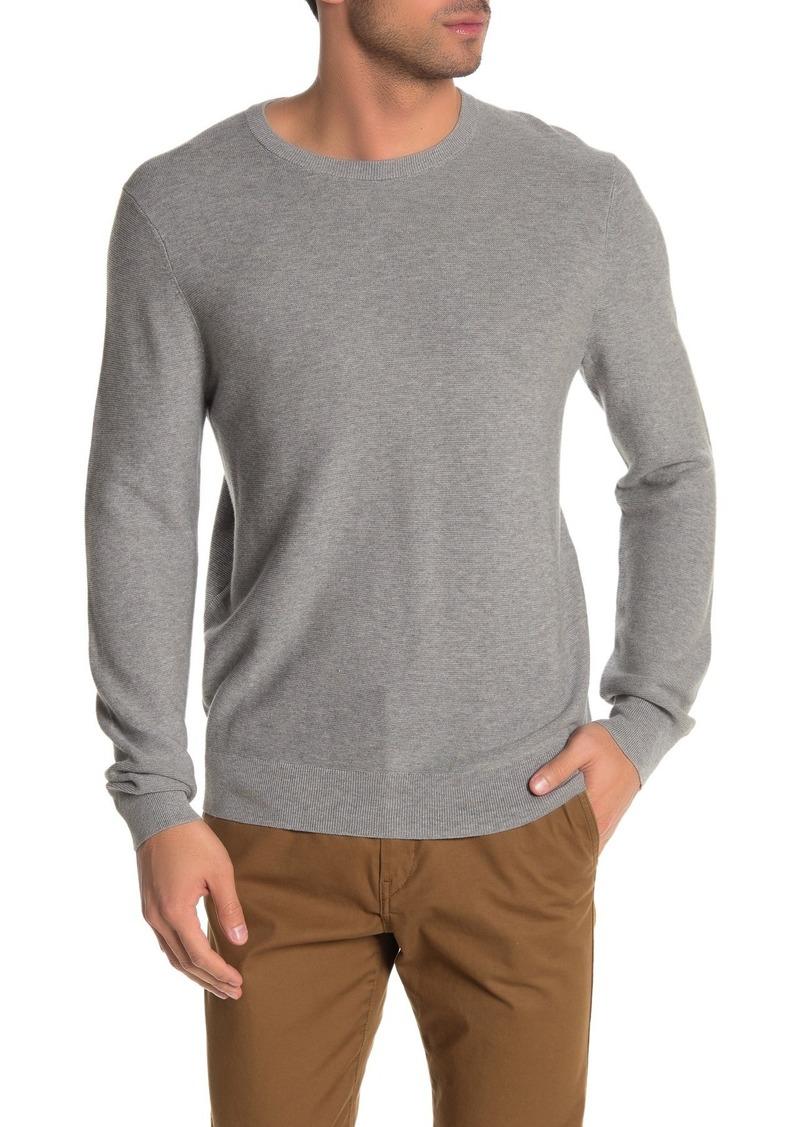 Brooks Brothers Lightweight Textured Knit Crew Neck Sweater