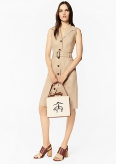 Brooks Brothers Linen-Blend Trench Dress