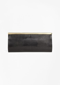 Brooks Brothers Lizard Embossed Evening Clutch